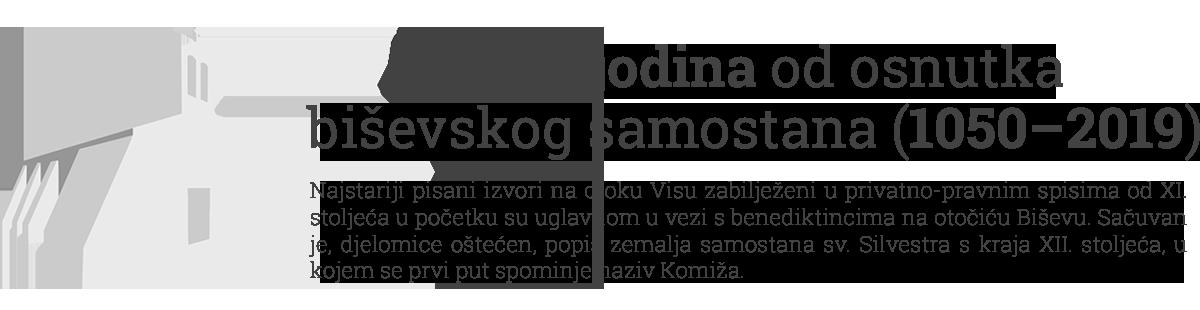 Tisuću godina od osnutka benediktinskog samostana na Biševu 1050.-2018.